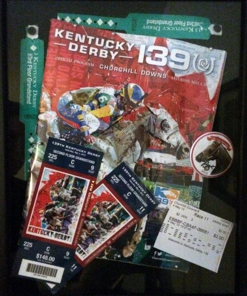 DIY Shadowbox - Step 5 - Finished Shadowbox. Kentucky Derby winner Orb.