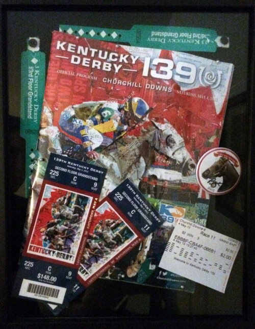 DIY Shadowbox - Step 5 - Finished Shadowbox. Kentucky Derby winner Orb.