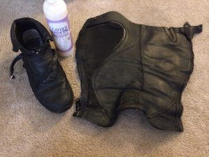 Ariat Volant Half Chaps after cleaning with Leather CPR