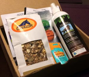 A Horse Box August 2014 review with Cavalor feed, Aspire Hoof Spray, Absorbine Botanicals, Delytes, and Sportique Brands.