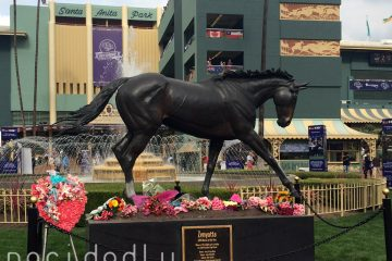 Breeders Cup 2014 Zenyatta Sculpture Flowers for Z Princess