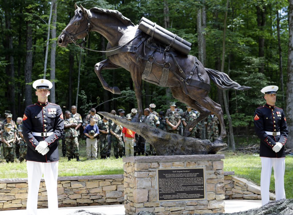 Dedication of Monument to Sgt. Reckless