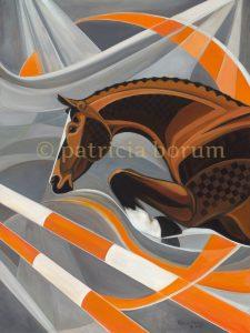 Patricia Borum Thunderbird Horse 48 x 36 big W
