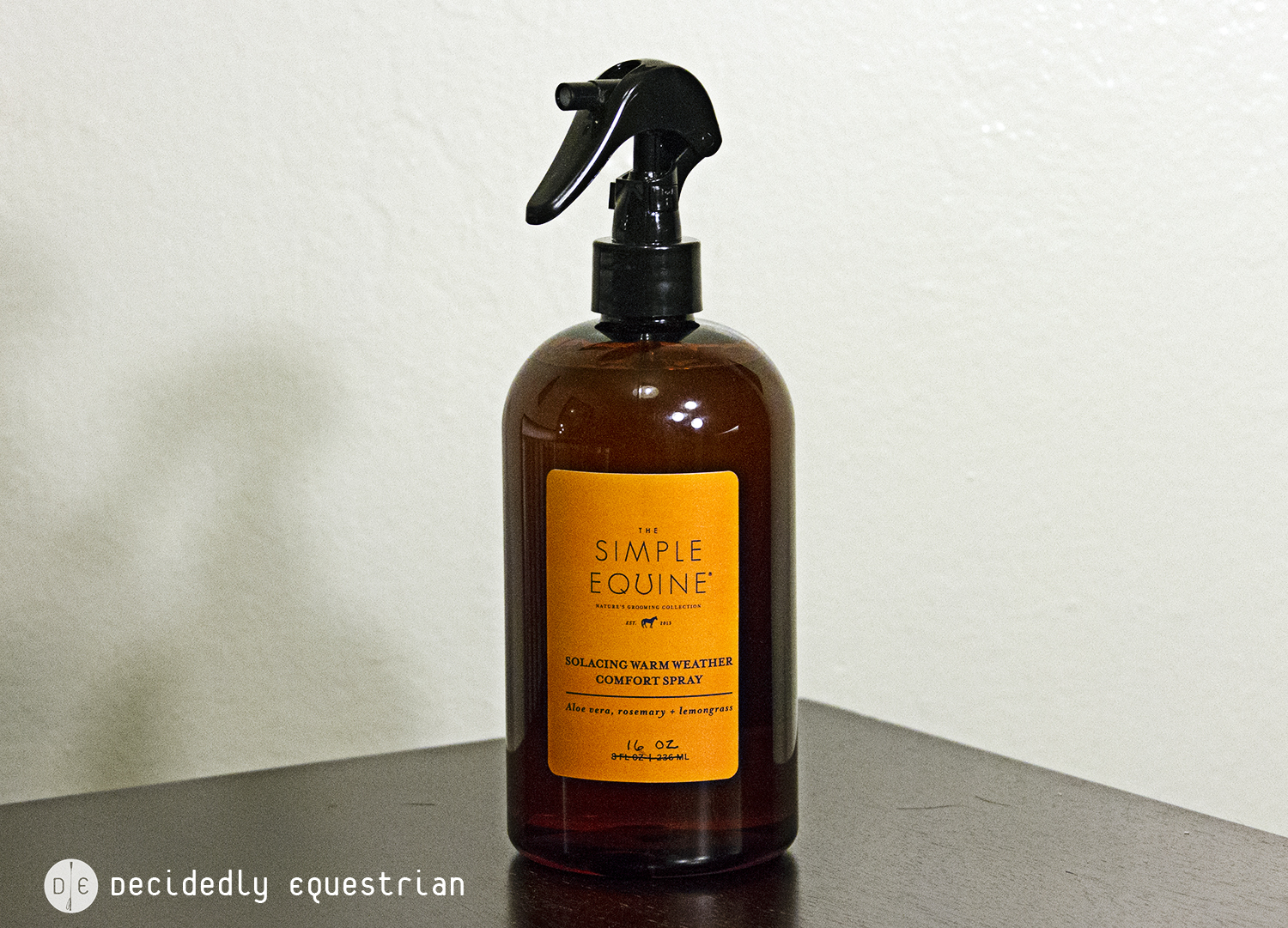 The Simple Equine's Solacing Warm Weather Comfort Spray Review