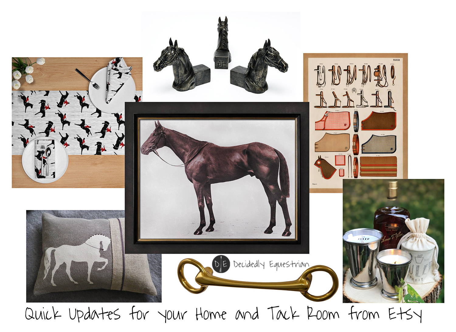 Quick Updates for your Home and Tack Room from Etsy